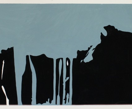 """Untitled 1975 Gouache on paper 10""""x24"""""""