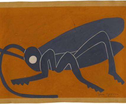 "Grasshopper Guoache 8"" x  11"""