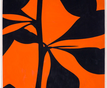 Tantra Orange 1975 Gouache on paper