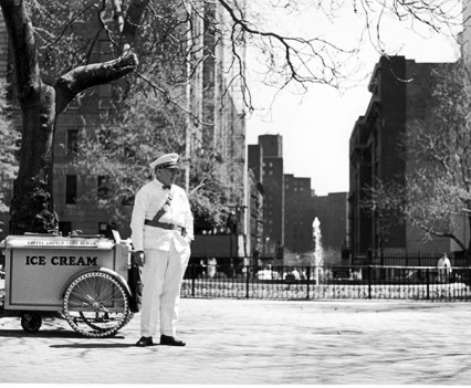 "Untitled, ""Good Humor man, Looking East Into Stuyvesant Town 1961"""