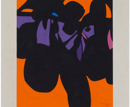 "Tantra 1977 Gouache on paper 14""x12"""