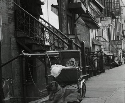 "Untitled, "" Baby sitter, East Village 1960""."