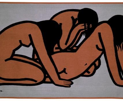 "Three Weeping Women, 1966 48"" x 72"""