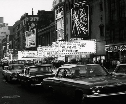 """Untitled, """" Times Square, 8th ave at dusk 1962"""""""