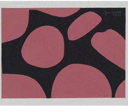 "Untitled 1969 Gouache on paper 5""x7"""