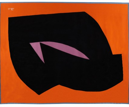 "Orange Diamond, 1976  82"" x 106"""