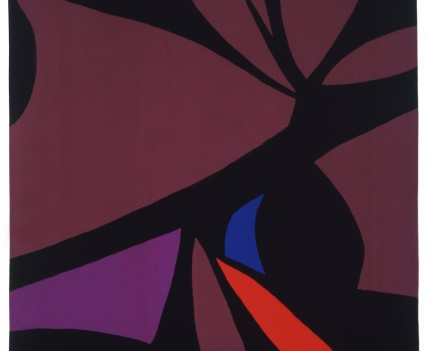 """Mexican Pink Tantra Designed: 1976 Woven: 1982 120"""" x 91"""""""
