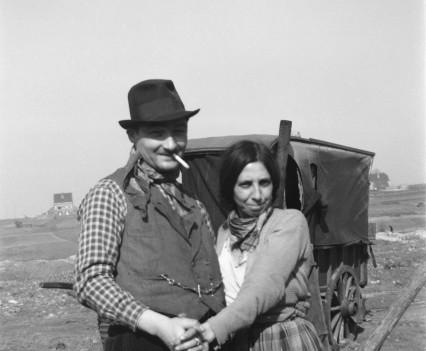 """Bidshika and his wife"""