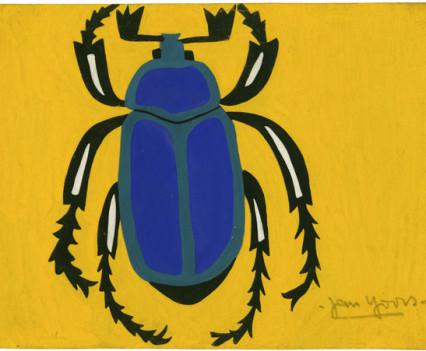 """Beetle Guoache 7' x 10"""""""