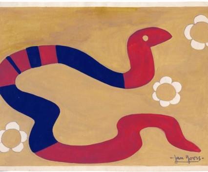 "Snake Guoache 7 – 3/8"" x  10.5"""