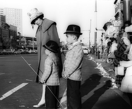 "Untitled, ""Mother and Children Crossing Street, Coney Island, 1962"""