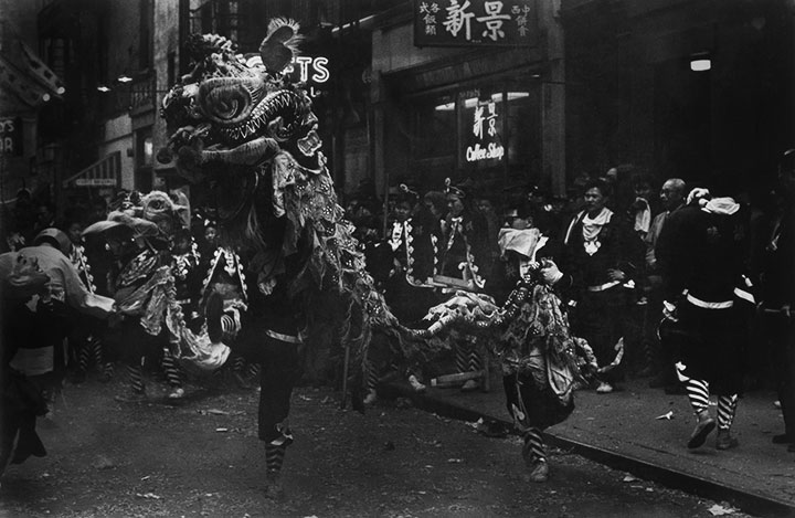 untitled lion dance chinese new year 1960s - Chinese New Year 1962