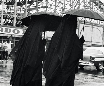 "Untitled, "" Rainy day Nuns at Coney Island 1962-63"""