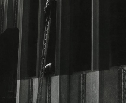 "Untitled, "" Window washers, Wall street 1960"""