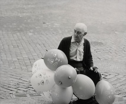 "Untitled, "" Ballon man , East 13th street, LES, 1960s"""