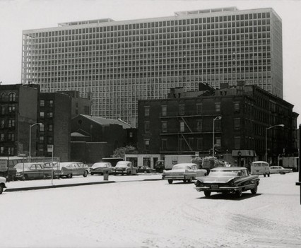 "Untitled, "" Brutalist  architecture Kips Bay, NYC 1960s"""