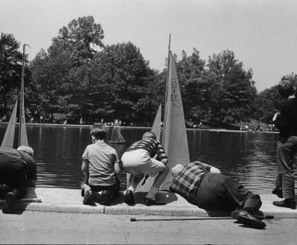 "Untitled, "" Central Park NYC, Boat pond 1962"""