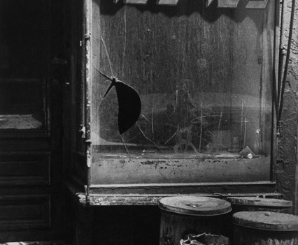 "Untitled, "" Abandoned, Komito butcher store front Lower East side 1960s"""