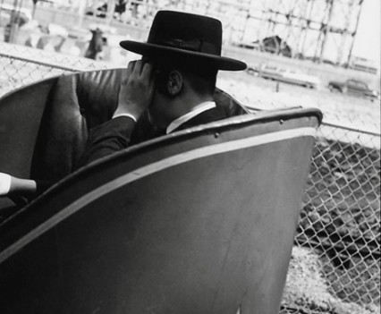 "Untitled, ""Hassidic boy enjoying Coney Island, 1960s"""