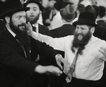 "Untitled, "" Lubavitchr Lav Davka Dancing at a wedding 1963"""