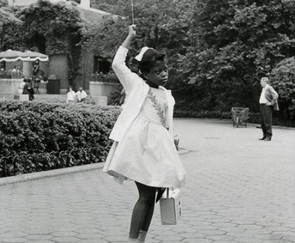 "Untitled, ""Balloon girl, Central Park 1961"""