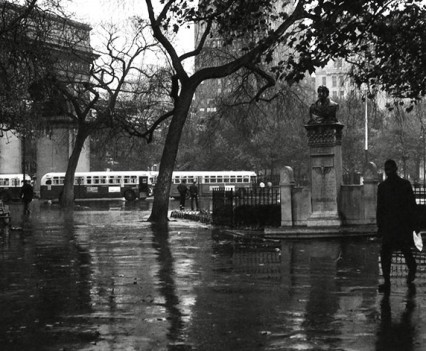 "Untitled,"" Rainy Day, Busses in the Park, 1961"""
