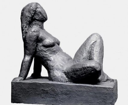 Marianne Reclining 1948, Plaster and paint