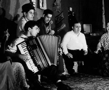 """Roma Musicians, Coney Island, NYC, 1963"""