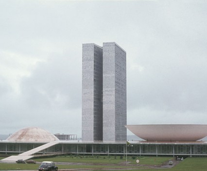 National congress building. Brasilia, Brazil