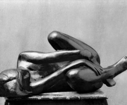 Untitled Woman curled up on her side 1968, Plaster and paint