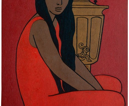 "Luludja with Samovar 1958 48""x36"""