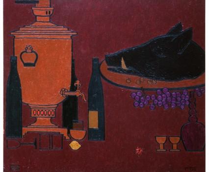 """6-stilllife06eStill life with a head of wild boar, 1958 48""""x54""""dited-copy"""