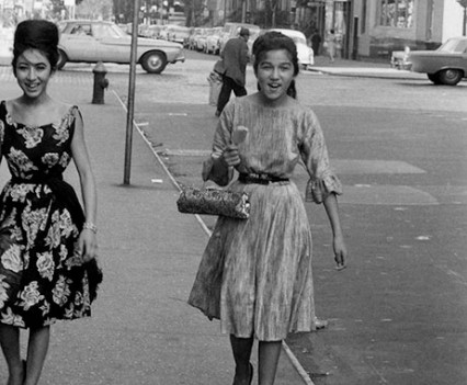 """Two Roma girls, Lower East Side, NYC, 1960s"""