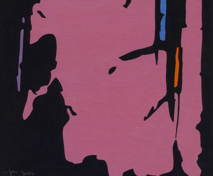 9.PinkandBlackAbstract