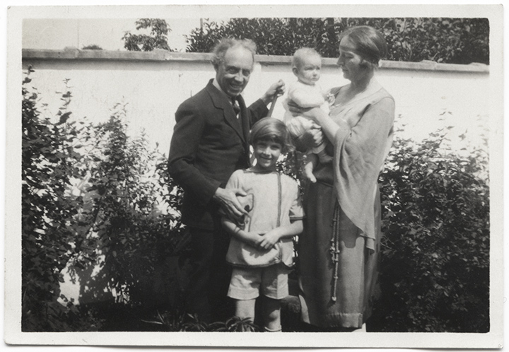 The Yoors family together: Eugene, Jan as a young boy, Madga holding Jan's little sister Bixie
