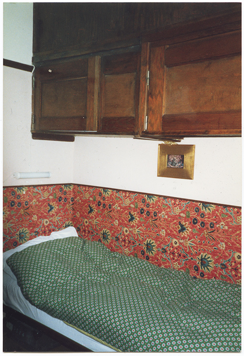 Jans bed at the Yoors house in Belgium
